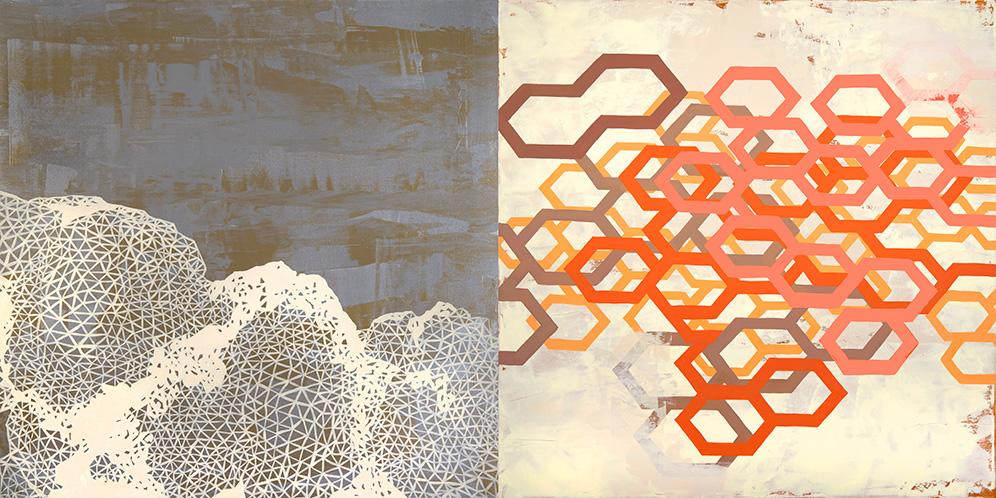 "cumulus I, 48x96"", acrylic on canvas"