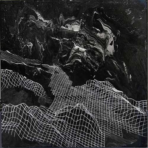 "Engineer's Ridge, 18x18"", acrylic on canvas"