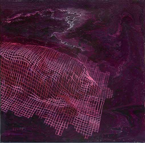 """Fynnon Garw, 18x18"""", acrylic on canvas"""