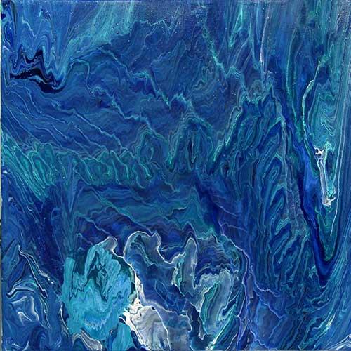 """Plume IV, 18x18"""", acrylic on canvas"""