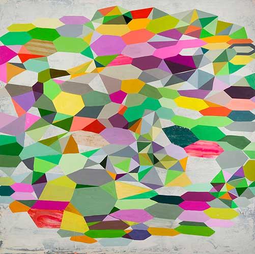 "Bold as Love II, 60x60"", acrylic on canvas"