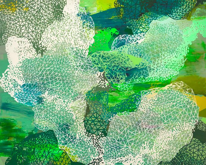 "elegant rupture, 48x60"", acrylic on canvas"