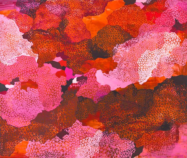 """mighty love, 80x96"""", acrylic on canvas"""