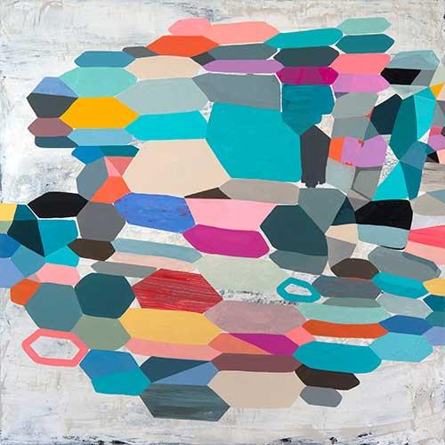 "Full Circle, 60x60"", acrylic on canvas"