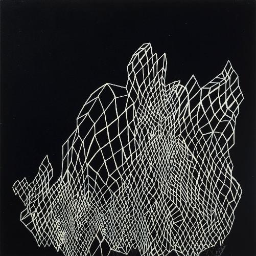 "connection & degradation II, acrylic on canvas, 18x18"""