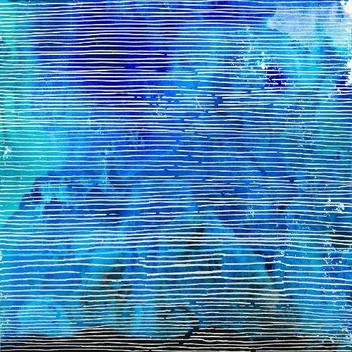 """topo IX, acrylic on paper, 12x12"""""""
