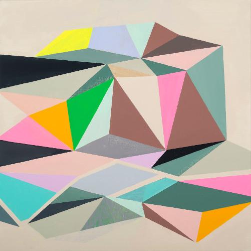 "untitled, acrylic on canvas, 18x18"""