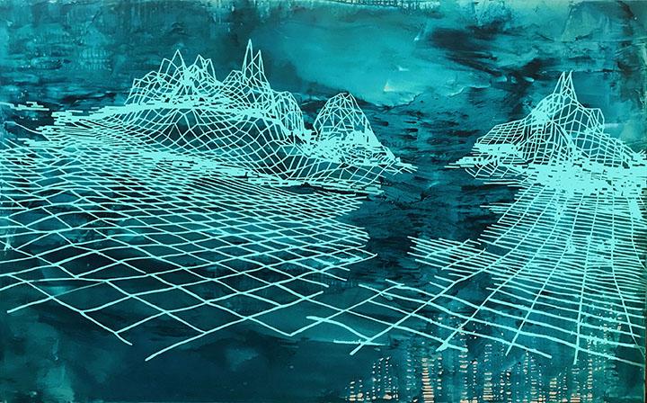 Progenitor IV, 66x108   Acrylic On Canvas