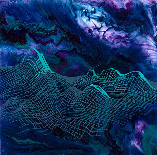 Guaymas Basin series II, 18x18 acrylic on canvas