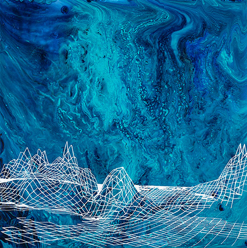 Guaymas Basin series I, 18x18 acrylic on canvas