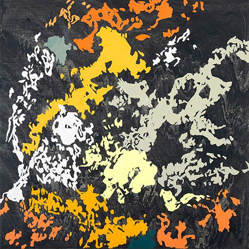 Guaymas Basin series VI, 18x18 acrylic on canvas