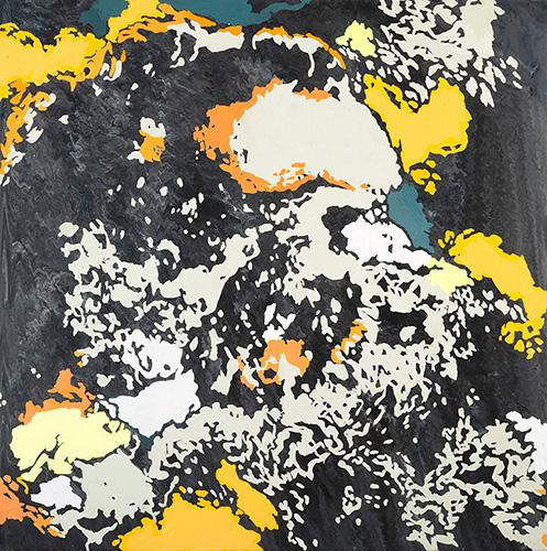Guaymas Basin series V, 18x18 acrylic on canvas