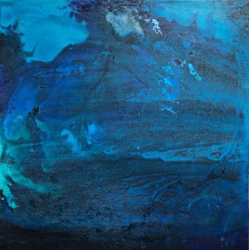 salish sea series III, 18x18, acrylic on canvas