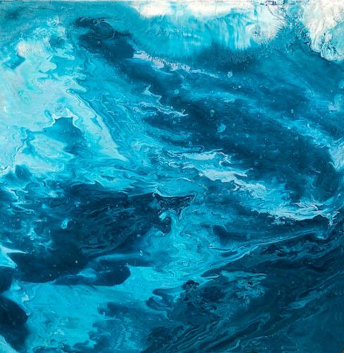 salish sea series VII, 18x18, acrylic on canvas