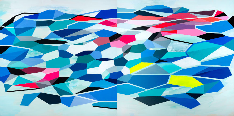 fire & ice IV| 60x120 | acrylic on canvas