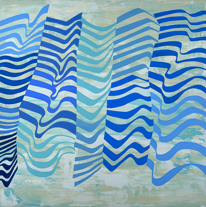 Topographies of Time II | 60x60 | acrylic on canvas