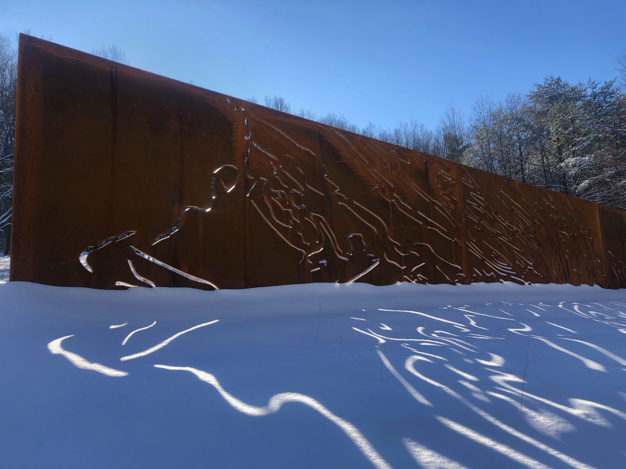 Ridge & Valley | 9' x 67' | plasma-cut corten steel freestanding sculpture